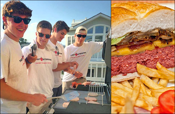 Boys of Summer Fire Up the Grill for Burgers